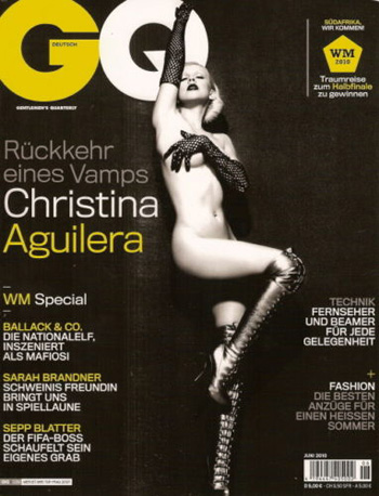 Christina Aguilera graces the cover of GQ Germany