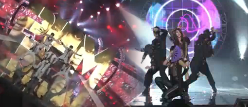 2PM and Brown eyed girls' performances on Music bank (November 20, 2009)