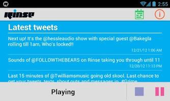 Screenshot of RinseFM