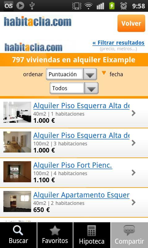 habitaclia portal inmobiliario- screenshot