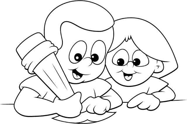 Niño Leyendo Un Libro Colouring Pages Page 2: Dibujos De Estudiar Para Colorear