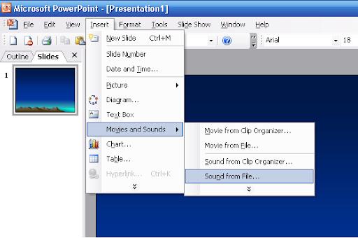 Nhúng (Chèn) nhạc vào Slide của PowerPoint 2003 - Người lái