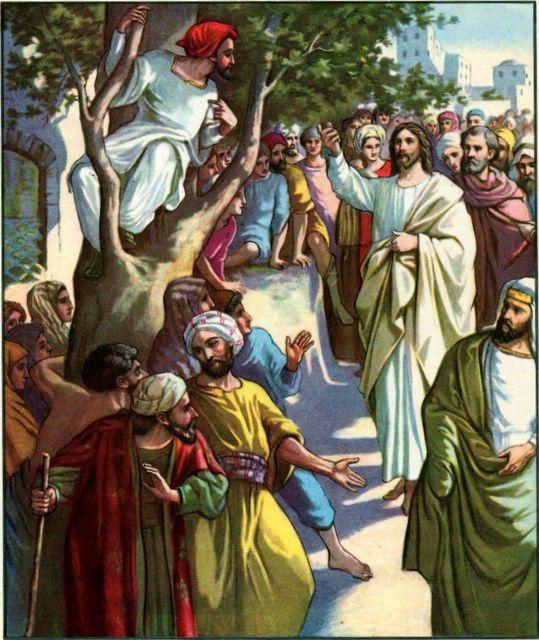 clipart jesus and zacchaeus - photo #18