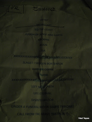 Enslaved : set-list @ Hole In The Sky 2009