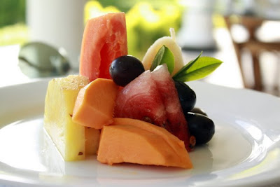 Fresh fruit plate at Ceylon Tea Trails in Sri Lanka