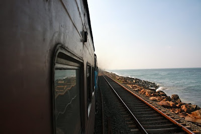 Train ride from Colombo to Galle in Sri Lanka