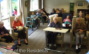 Some of the Fairview Hospital Wing residents enjoying the Concert