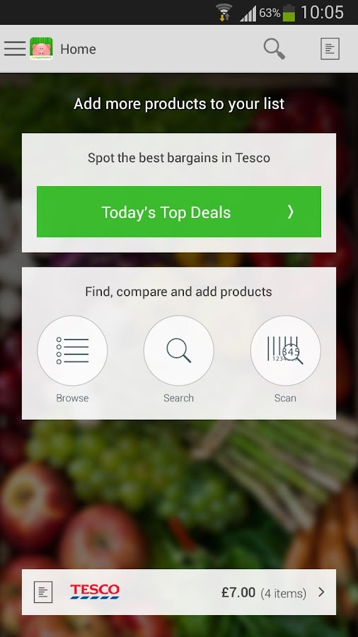 mySupermarket – Shopping List- screenshot