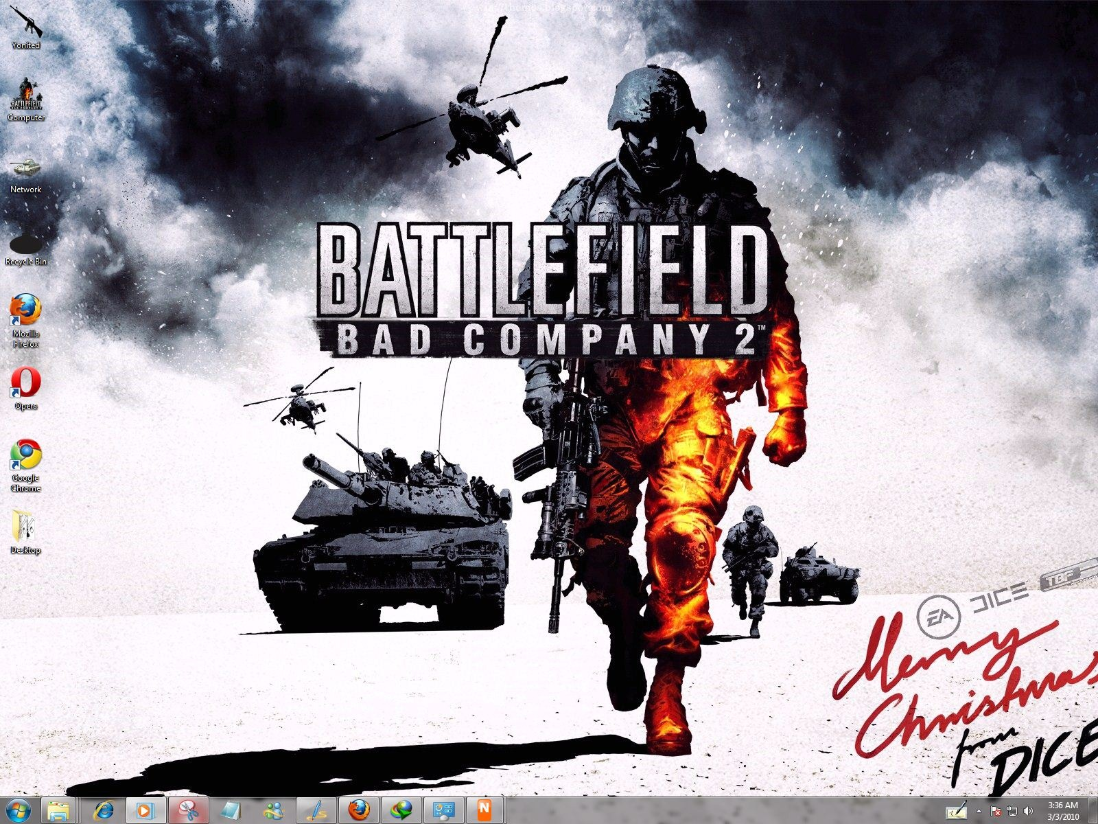 win 8 themes: BattleField Bad Company 2 Windows 7 Theme With