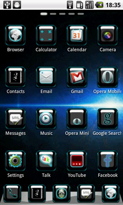 BlueSpace Theme GO Launcher- screenshot