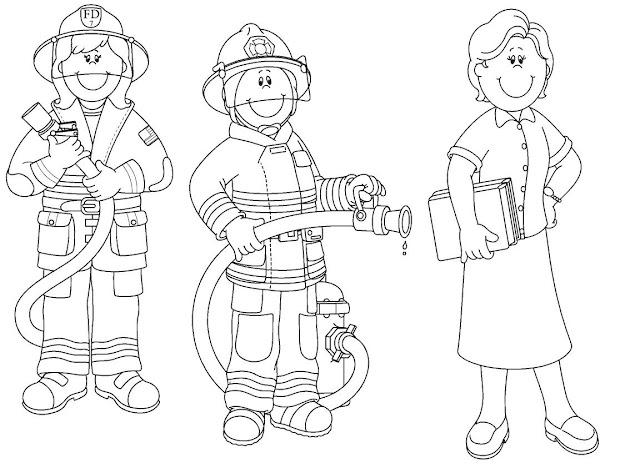 Dibujos Infantiles De Oficios Para Colorear