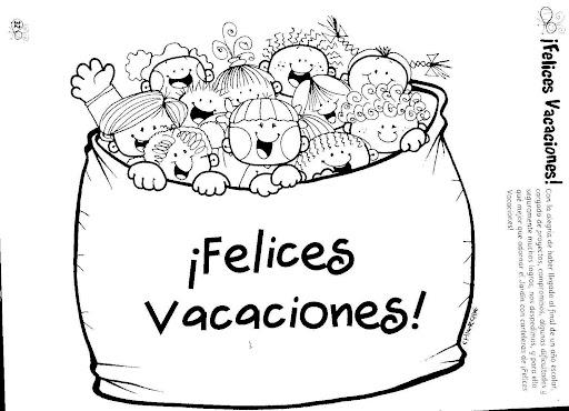 Dibujos Para Pintar Felices Vacaciones