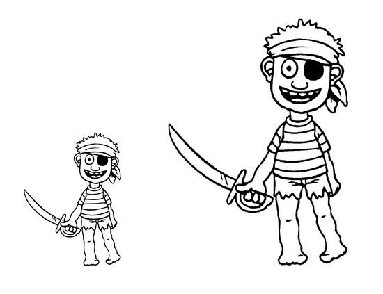 Desenhos Piratas Para Colorir