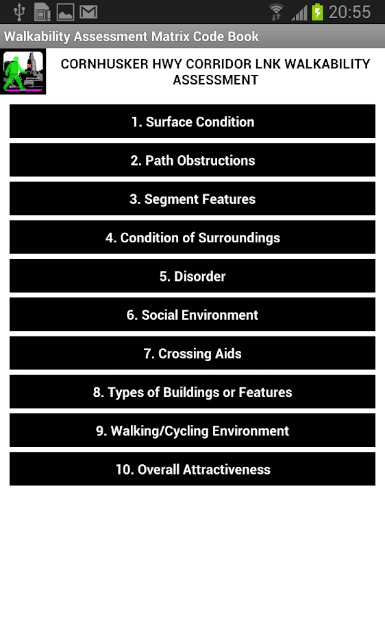 Lincoln Walkability Grader- screenshot