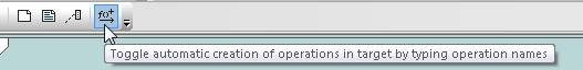 Altova UModel toolbar button for automatic creation of operations in classes
