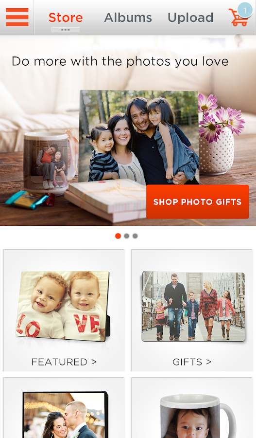 Shutterfly for Android- screenshot