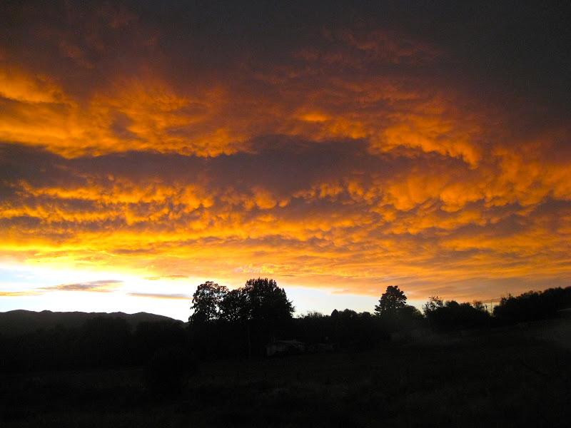 sunrise near milford sound new zealand