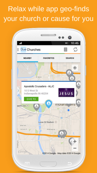 Givelify Mobile Giving App- screenshot