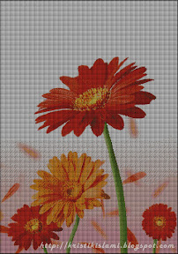 aster flower - cross stitch - click to enlarge view