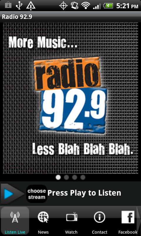 Radio 92.9 WBOS - screenshot
