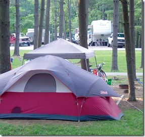 Tent Camping at Lake Rudolph Campground & RV Resort