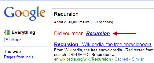 google-recursion-joke