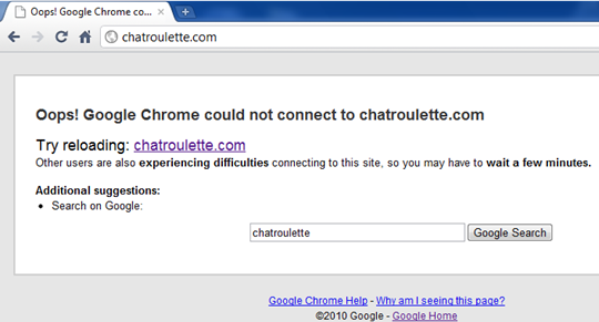 google-chrome-error