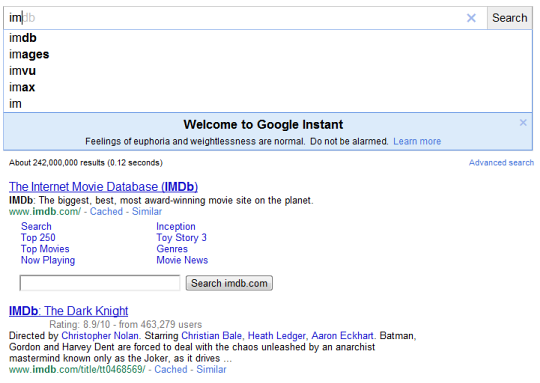 google-instant-im