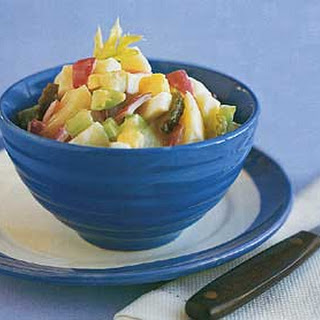Old-Fashioned Potato Salad with Sweet Pickles.