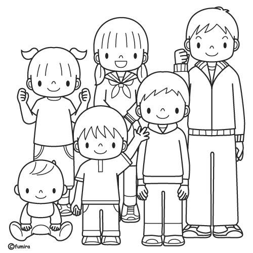 La Familia Laminas Para Pintar