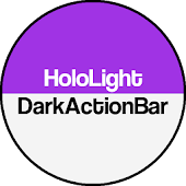 Dark ActionBar Purple CM Theme