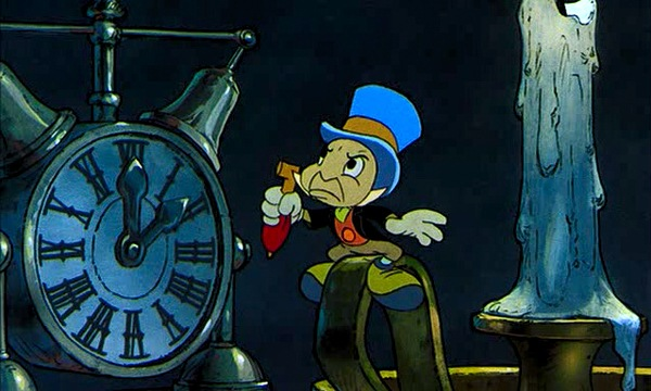 Jiminy Cricket as The Ghost of Xmas Past