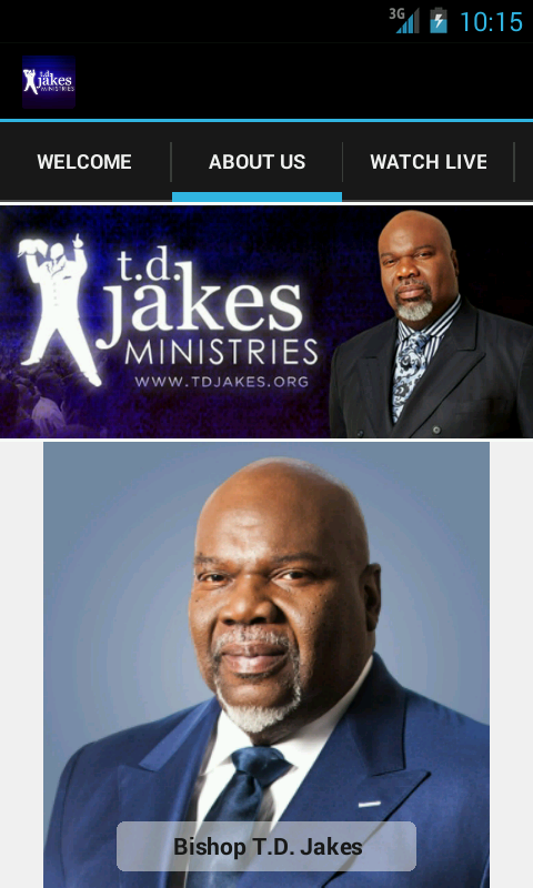 Bishop T.D. Jakes Ministries - screenshot