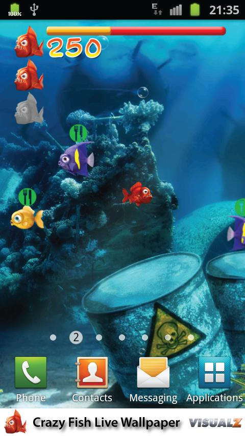 Crazy Fish Live Wallpaper Free - screenshot