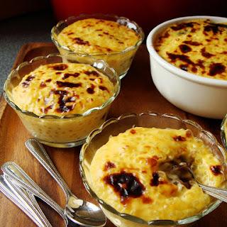 Baked Tapioca Pudding with Azuki Swirl 西米豆沙焗布甸.