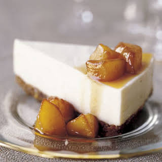 Mascarpone Cheesecake with Quince Compote.