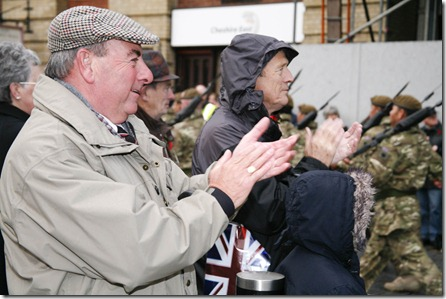 Tony Smith cheers on the soldiers