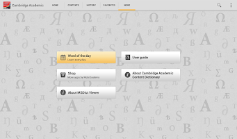 Screenshot of Cambridge Academic Content TR