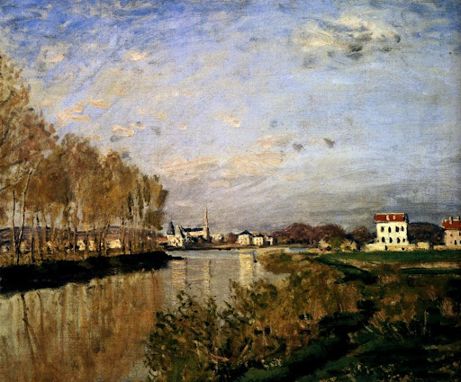 claude monet, the seine at argenteuil