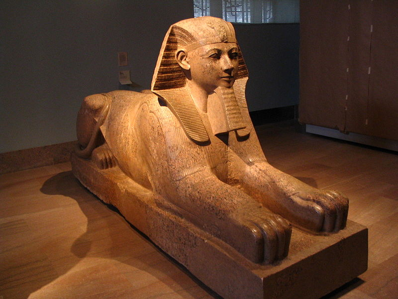 sphinx in the metropolitan museum new york
