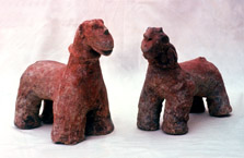 horse figurines from mali