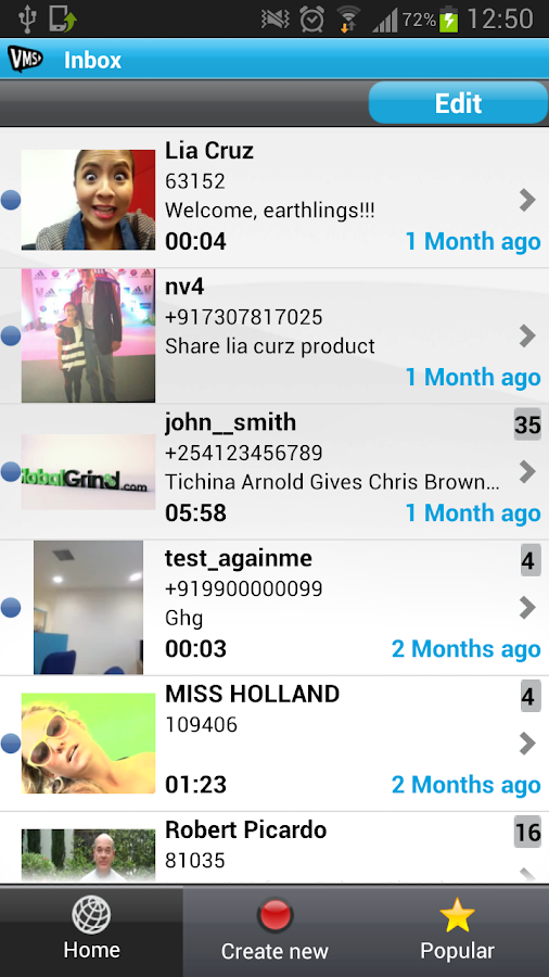 VMS - Video Messenger - screenshot