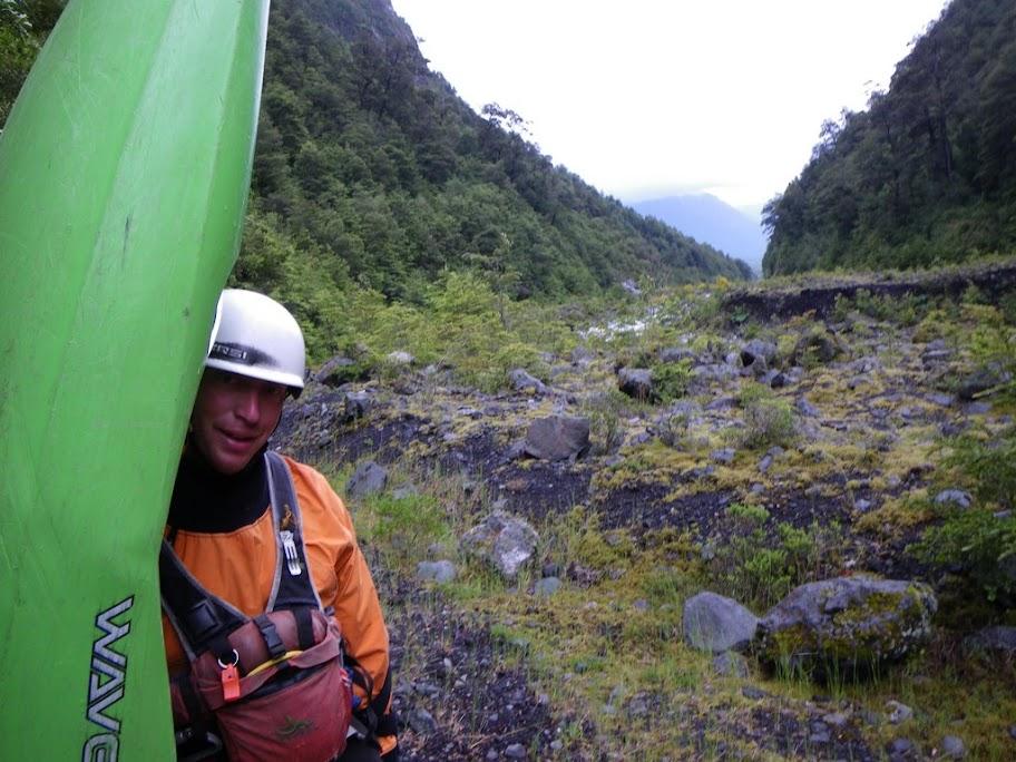 Chris Baer on the Hike Up