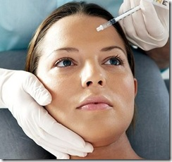 woman taking botox injection