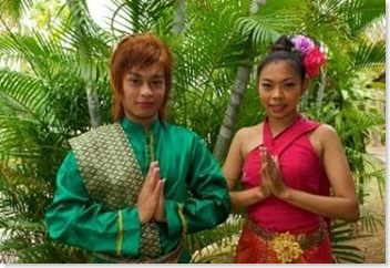 Thai women in traditional attire