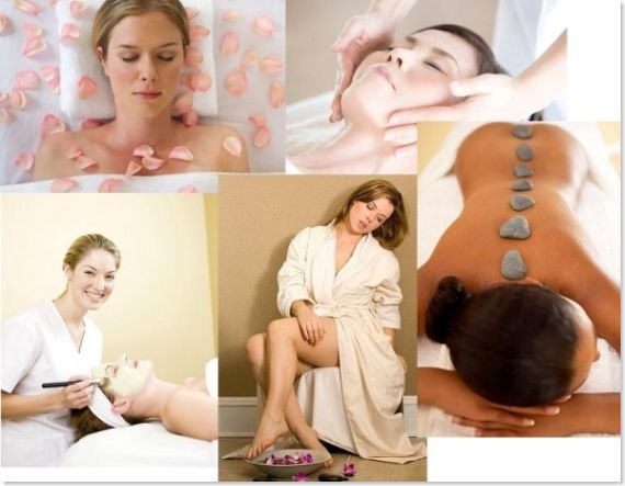 women undergoing beauty therapies