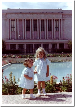 1980_0Michelle_and_Becky_in_front_of_Mesa_Temple