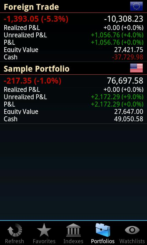 Portfolio mobile - screenshot