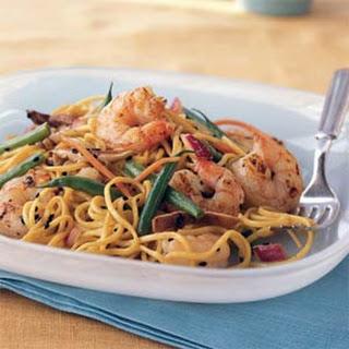 Cold Asian Noodle Salad with Ponzu Vinaigrette.