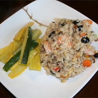 Prawn and Pine Nut Risotto.